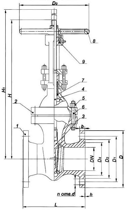 Задвижка ЗКЛ2 200-40 ХЛ1