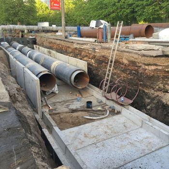 Монтаж трубопроводов в каналах