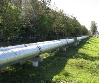 Надземная прокладка трубопровода